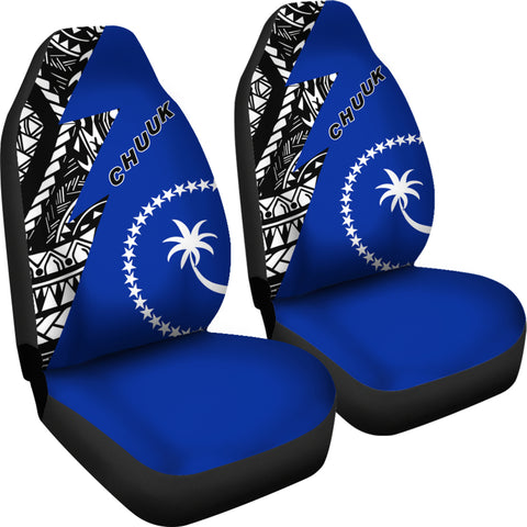 Chuuk Pattern Car Seat Covers - Blue Style - FSM - BN912