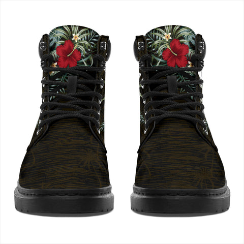 Image of Wallis and Futuna Hibiscus All-Season Boots A7