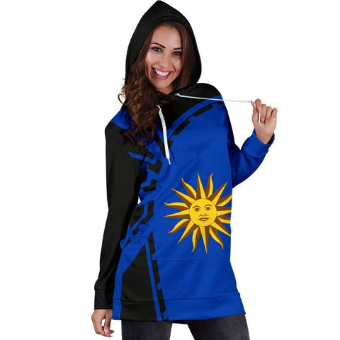 Image of Uruguay Hoodie Dress Premium Style - Front - 2