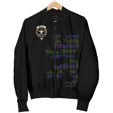 Murray of Athole Tartan Lion And Thistle Bomber Jacket for Men TH8