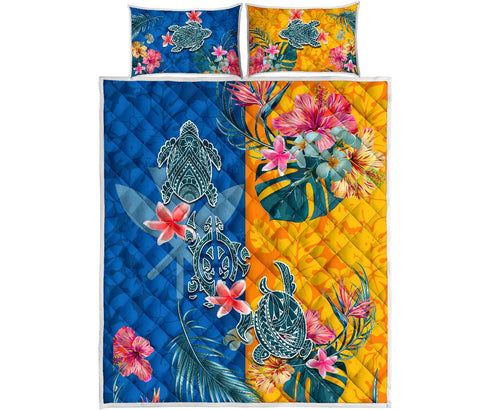 Hawaii Quilt Bed Set Polynesian Turtle Special | 1sttheworld