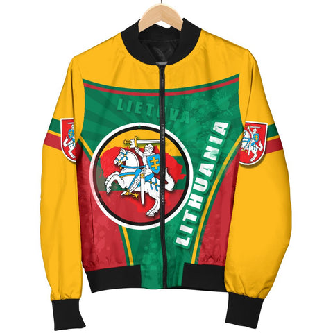 Lithuania - Lietuva Women Bomber Jacket Circle Stripes Flag Proud Version K13