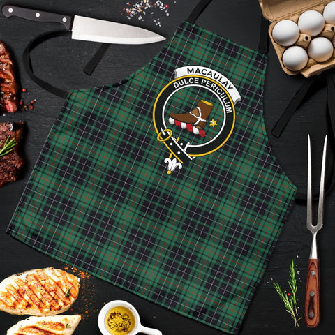 Image of MacAulay Hunting Ancient Tartan Clan Crest Apron HJ4