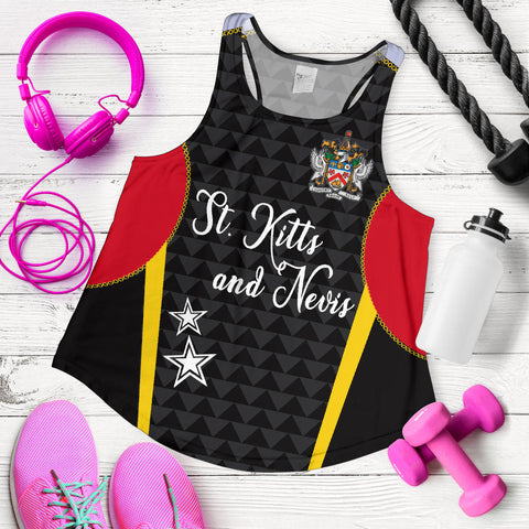 Saint Kitts And Nevis Women's Racerback Tank Exclusive Edition K4