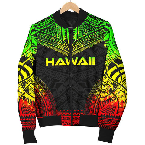 Hawaii Polynesian Chief Women'S Bomber Jacket - Reggae Version - Bn10