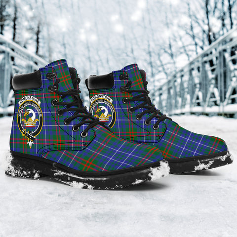 Edmonstone Tartan Clan Crest All-Season Boots HJ4