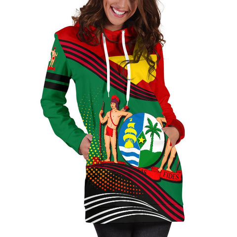Suriname Hoodie Dress Fall In The Wave K9