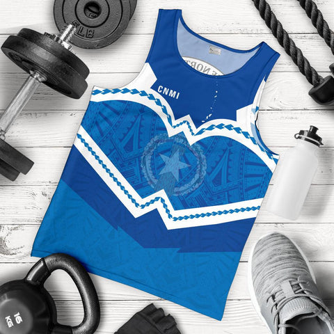 Image of Northern Mariana Islands Men's Tank Top - Warriors Style
