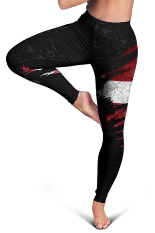 Image of Latvia In Me Women's Leggings - Special Grunge Style A31