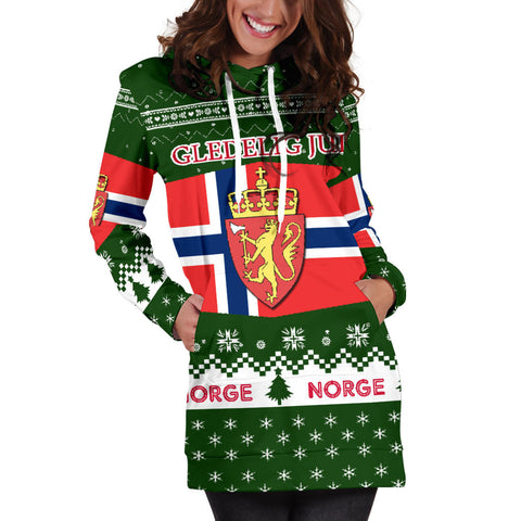 Norway Christmas Hoodie Dress K5