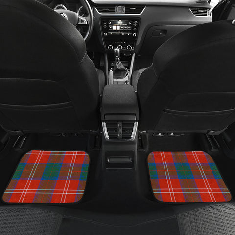 Chisholm Ancient  Tartan Clan Badge Car Floor Mat 4 Pieces K7