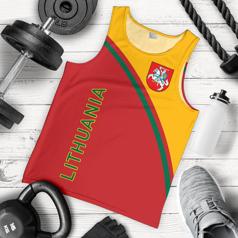 Image of Lithuania Men's Tank Top - Curve Version - BN01