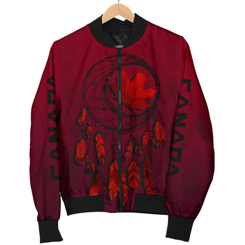 Image of Canada Maple Leaf Dreamcatcher Women's Bomber Jacket