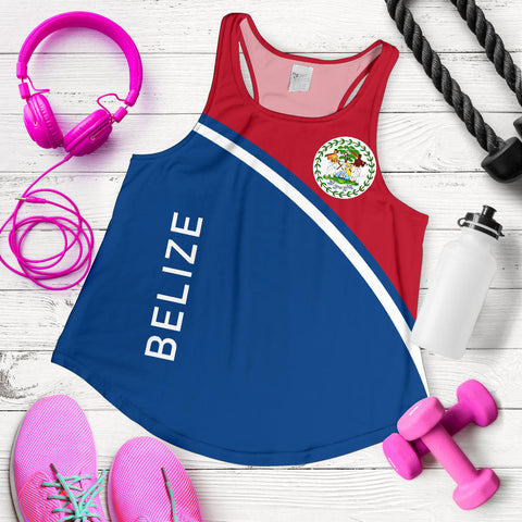 Image of Belize Women's Racerback Tank - Curve Version - BN01