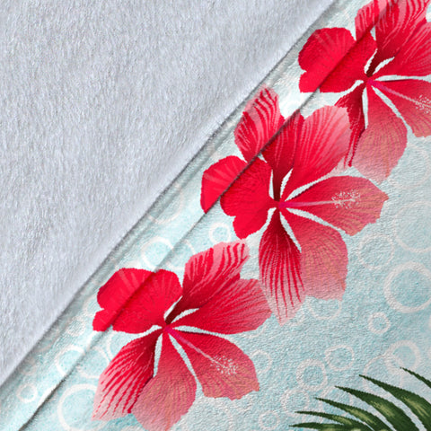 Hawaiian Hibiscus And Poly Premium Blanket A5