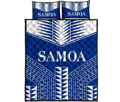 Manu Samoa Quilt Bed Set - Blue Version