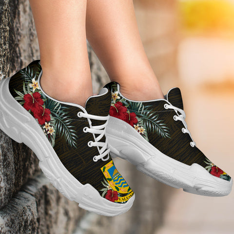 Tuvalu Hibiscus (Men/Women) Chunky Sneakers A7