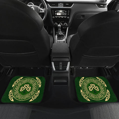 Ireland Front and Back Car Mats Shamrock and Celtic Corner TH6