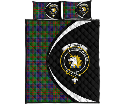 Stewart of Appin Hunting Modern Tartan Quilt Bed Set Circle HJ4