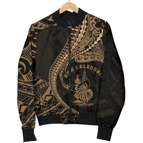 Image of New Caledonia Women's Bomber Jacket Kanaloa Tatau Gen NC (Gold) TH65
