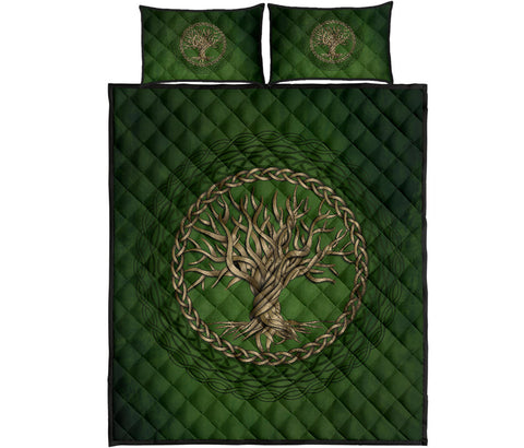 Celtic Quilt Bed Set Tree of life Yggdrasil A7