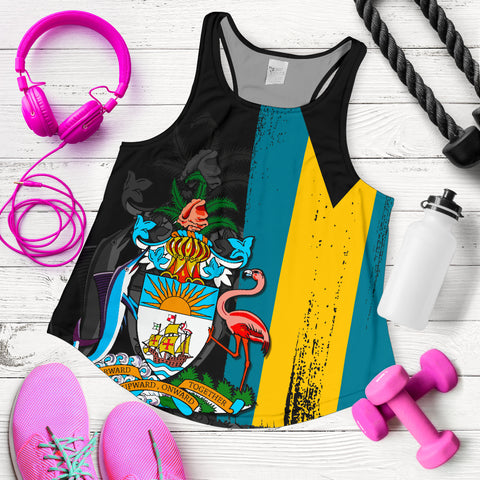 Bahamas Flag Coat Of Arm Women's Racerback Tank - J4