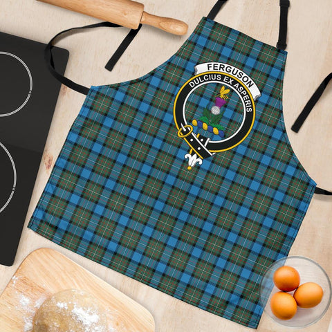 Fergusson Ancient Tartan Clan Crest Apron HJ4
