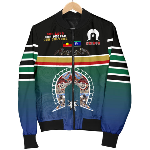 1stTheWorld Australia Men's Bomber Jacket - Aboriginal And TSI Flags Naidoc - Quing Style - J5