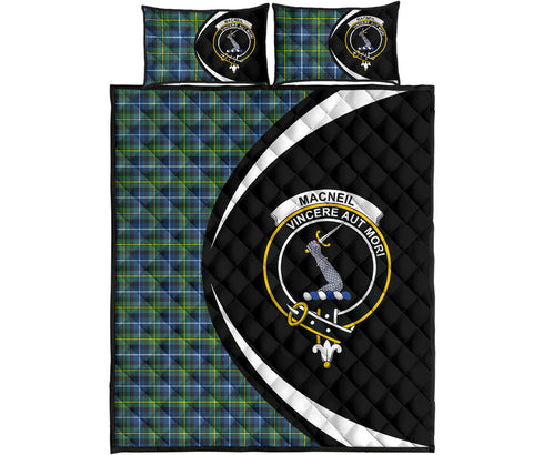 MacNeill of Barra Ancient Tartan Quilt Bed Set Circle HJ4