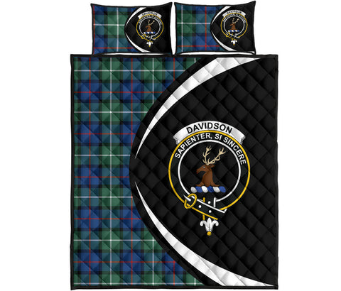 Davidson of Tulloch  Tartan Quilt Bed Set Circle HJ4