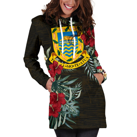 Image of Tuvalu Hibiscus Hoodie Dress A7