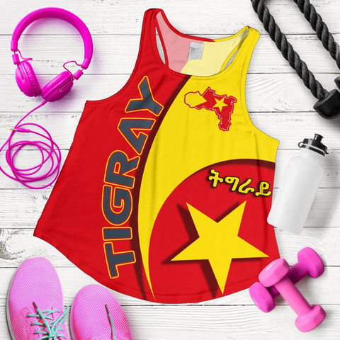 Image of 1stTheWorld Tigray Women Racerback Tank New Release A25