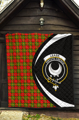 Leask Tartan Premium Quilt Circle Style Hj4