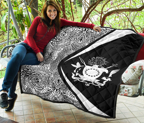 Cook Islands Coat Of Arms Polynesian Premium Quilt