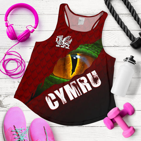 Welsh Women's Racerback Tank - Dragon Eyes | Clothing | Love The World