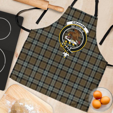 Graham of Menteith Weathered Tartan Clan Crest Apron HJ4