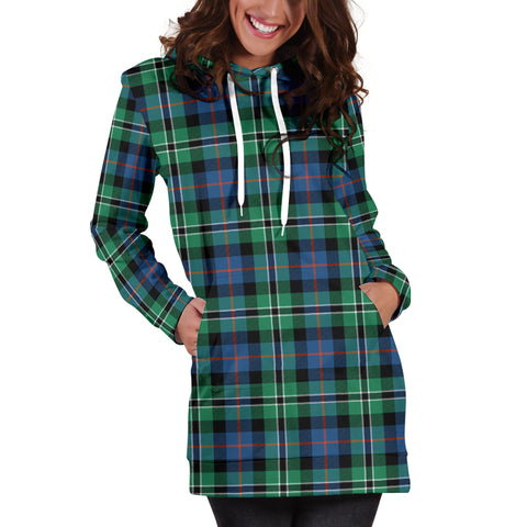 Rose Hunting Ancient Tartan Hoodie Dress HJ4