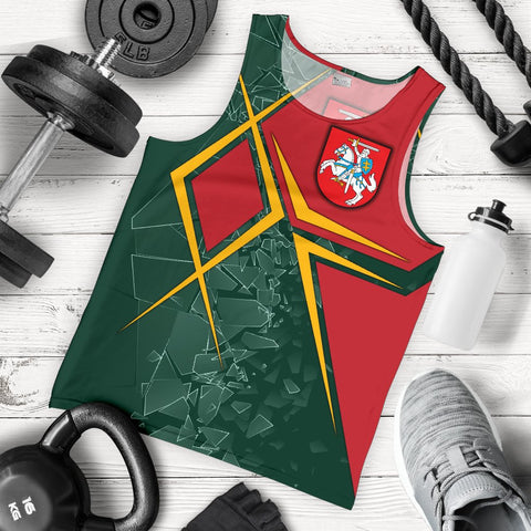 Image of Lithuania Men's Tank Top - Lithuania Legend