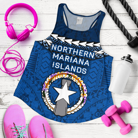 Northern Mariana Islands Polynesian Women Racerback Tank - Vibes Version K8