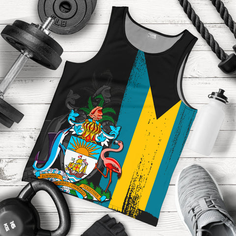 Bahamas Flag Coat Of Arm Men's Tank Top - J4