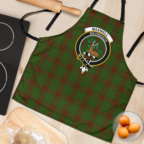 Image of Maxwell Hunting Tartan Clan Crest Apron HJ4