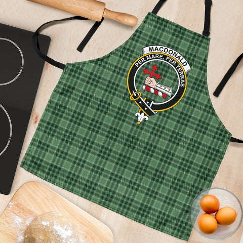 Image of MacDonald Lord of the Isles Hunting Tartan Clan Crest Apron HJ4