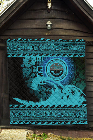 Federated States Of Micronesia Quilt Wave Navy Design K62