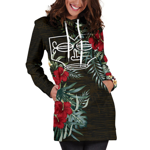 Marquesas Islands 1 Hibiscus Hoodie Dress A7