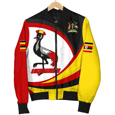 Image of 1stTheWorld Uganda Bomber Jacket, Uganda Strong Flag A10