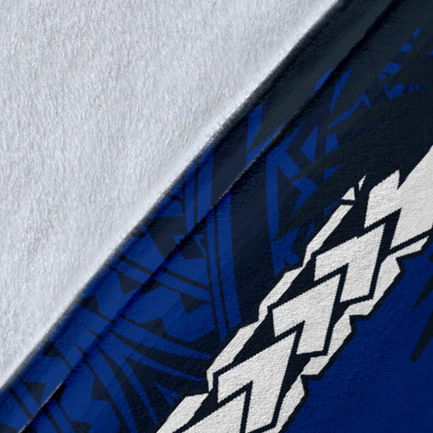 Image of Samoa Polynesian Coconut Premium Blanket (Blue) | Love the World