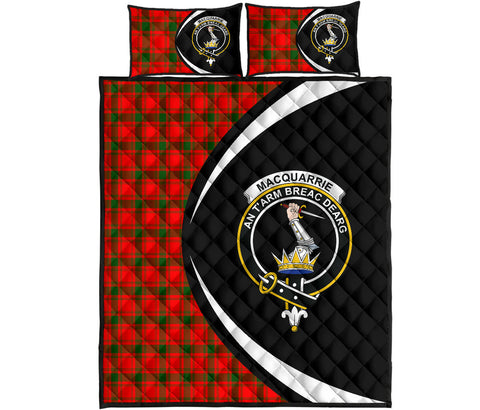 Image of MacQuarrie Modern Tartan Quilt Bed Set Circle HJ4