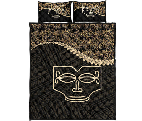 Image of Marquesas Islands Quilt Bed Set Golden Coconut A02