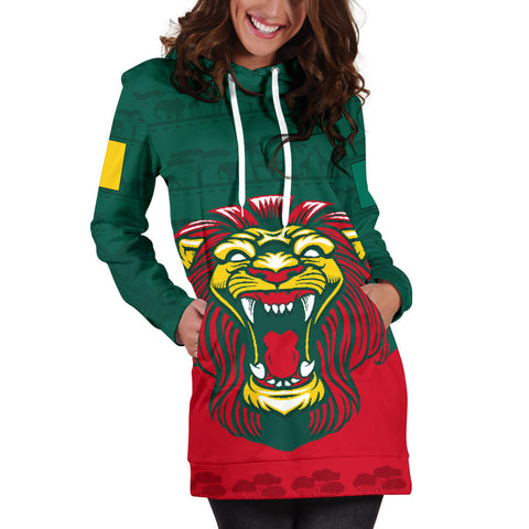 Cameroon Hoodie Dress Lion K4