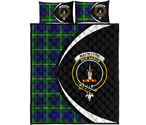 MacIntyre Hunting Modern Tartan Quilt Bed Set Circle HJ4